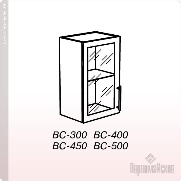 Антресоль ВС-400 стекло Веста (Бел дуб)
