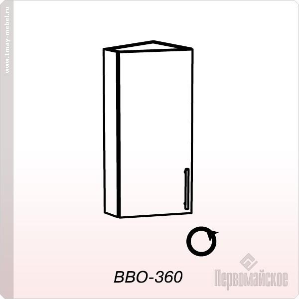 Антресоль ВВО-360 окончание высокая Веста (Бел дуб)