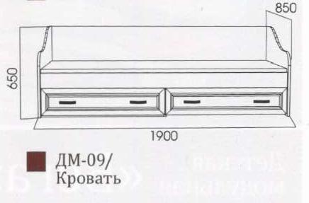 Детская Вега Модуль ДМ-09 (Кровать) (без матраца 0,8*1,86) Сосна Карелия