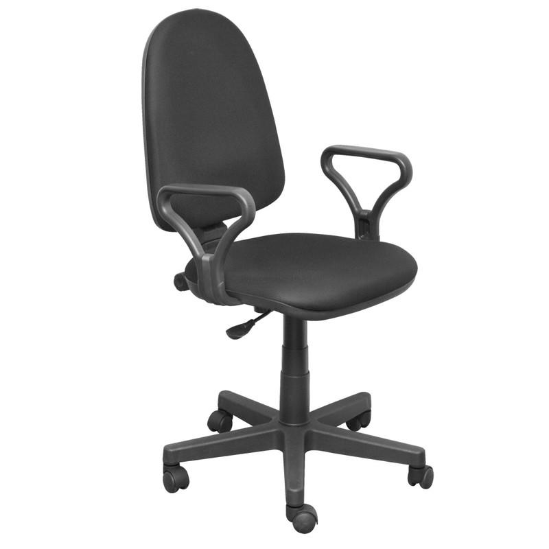 Кресло Комфорт (Ткань мебельная ТК-1 (черный) ПВМ PL 600 чарли ролик ст.) (Акция)