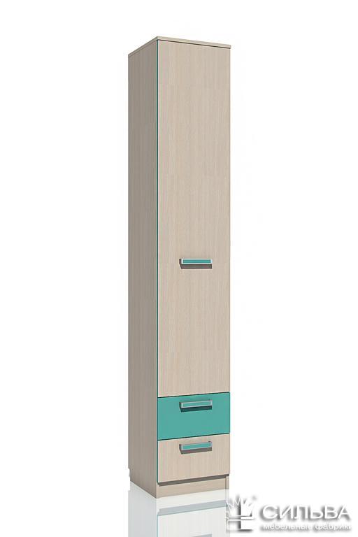 Шкаф для белья с ящ. НМ 013.01-02 М Рико (Дуб девонширский 8622/Аква, Дуб девонширский 8622)
