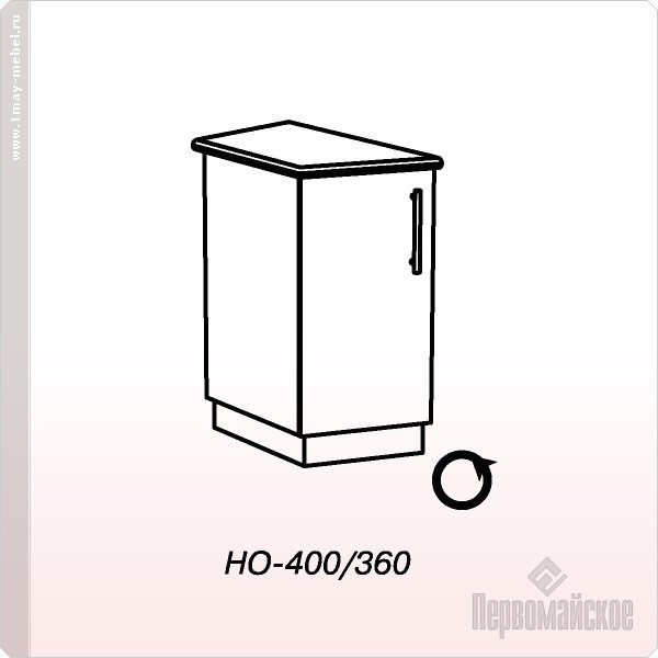 Стол НО-400 окончание Веста (Венге) б/стол.