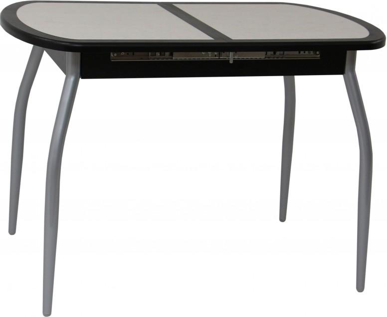 Стол обеденный Будапешт-1 70х110 (+32) (Венге, 7169) нога №01 хром