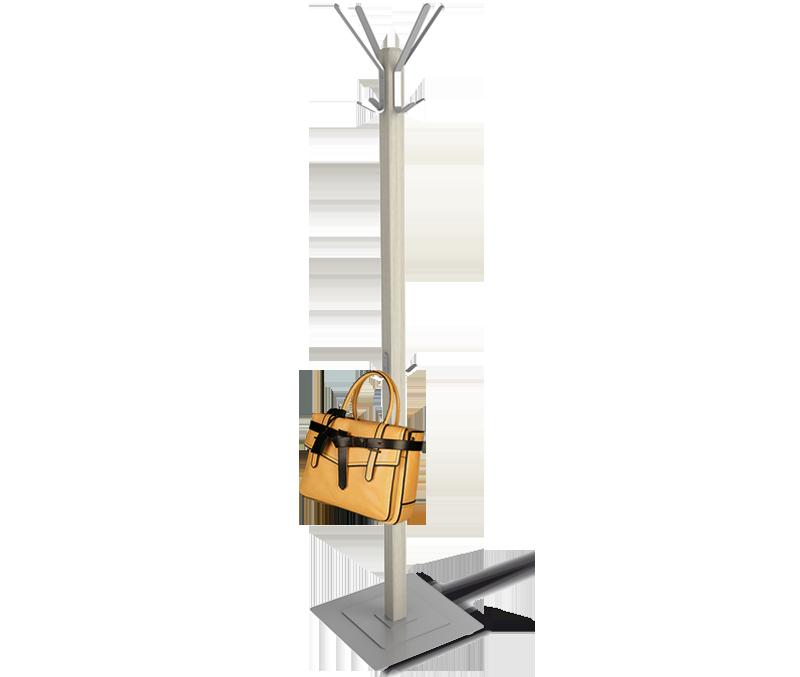 Вешалка Sheffilton Альберо SHT-CR11 (B1-76) дерево/металл/металл. осн. (беленый/хром лак)