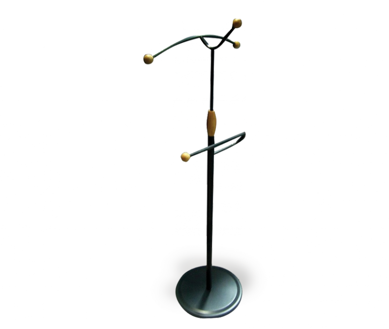 Вешалка Sheffilton Галан (B1-14) металл/дерево (черный/бук)